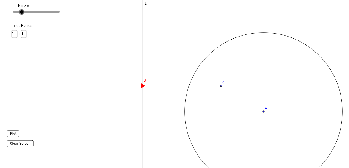 Constructing conic sections with a straight line and circle