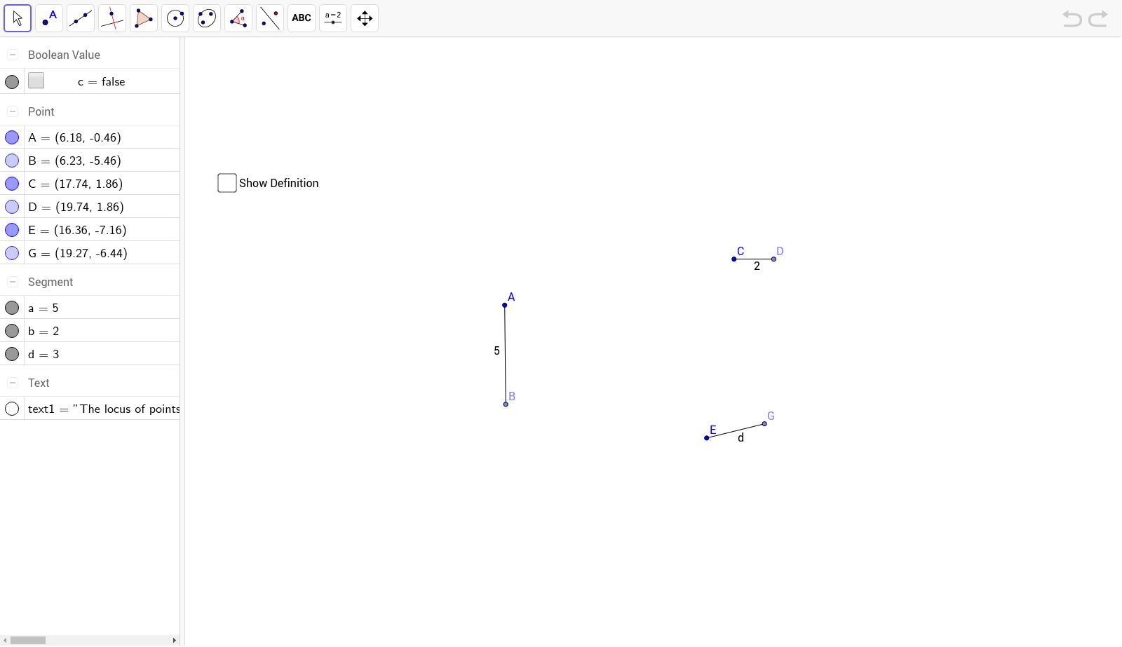 worksheet Locus Worksheet 5 locus theorems geogebrabook 1