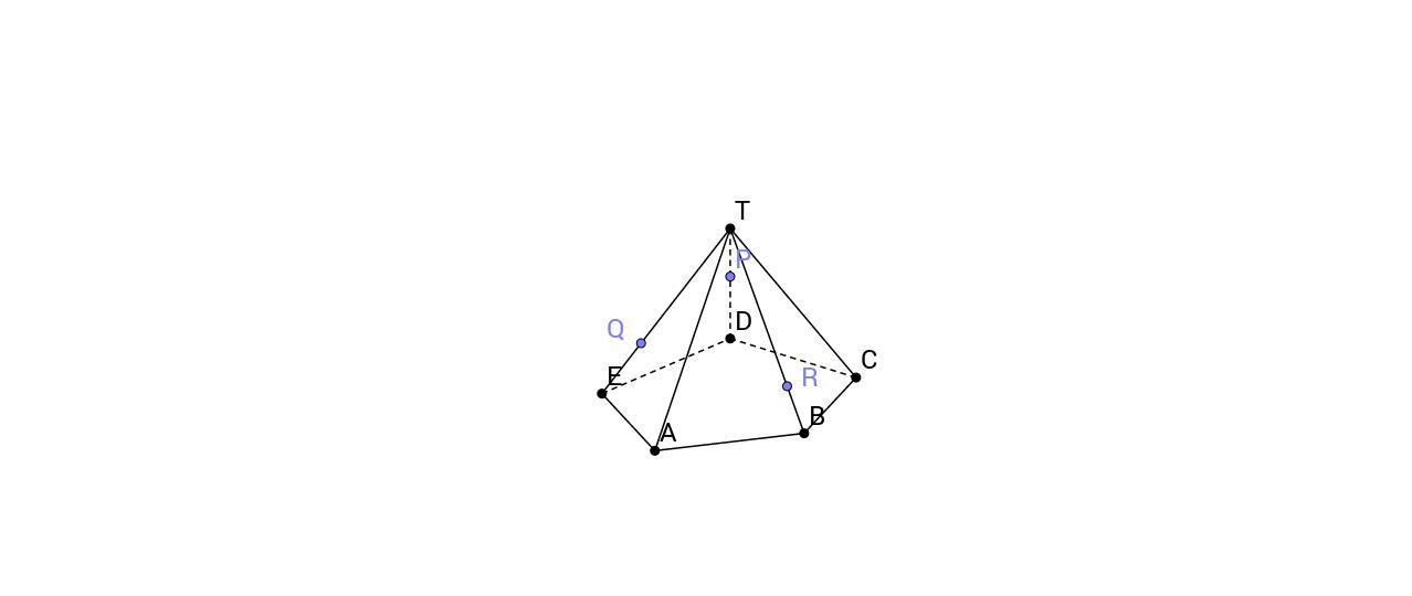 Doorsnede Piramide met vlak: Delta 4A-Oefening 37-2