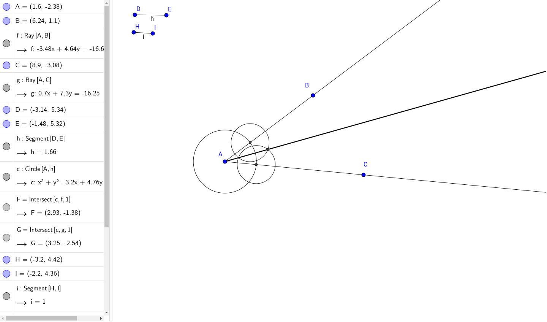 worksheet Locus Worksheet locus of point equidistant from two lines geogebra