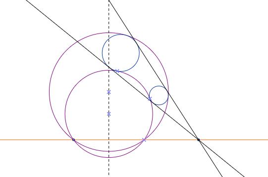 Linje på sirkel