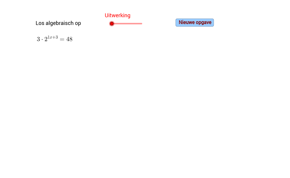 Exponentiele vergelijking oplossen