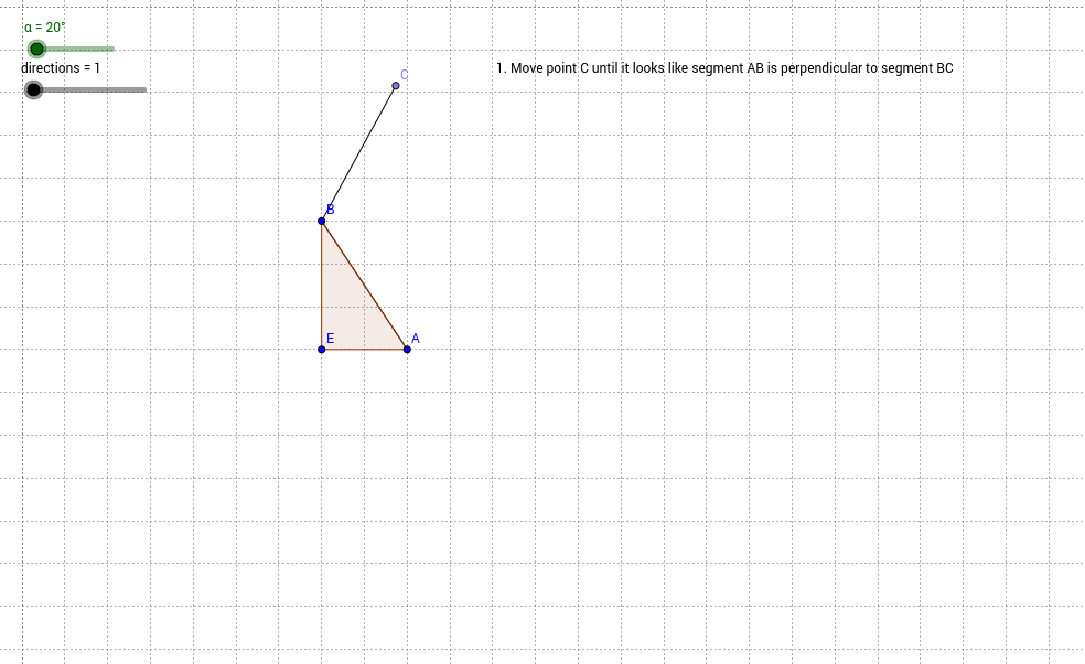 Draw squares with diagonal sides (with right triangle).