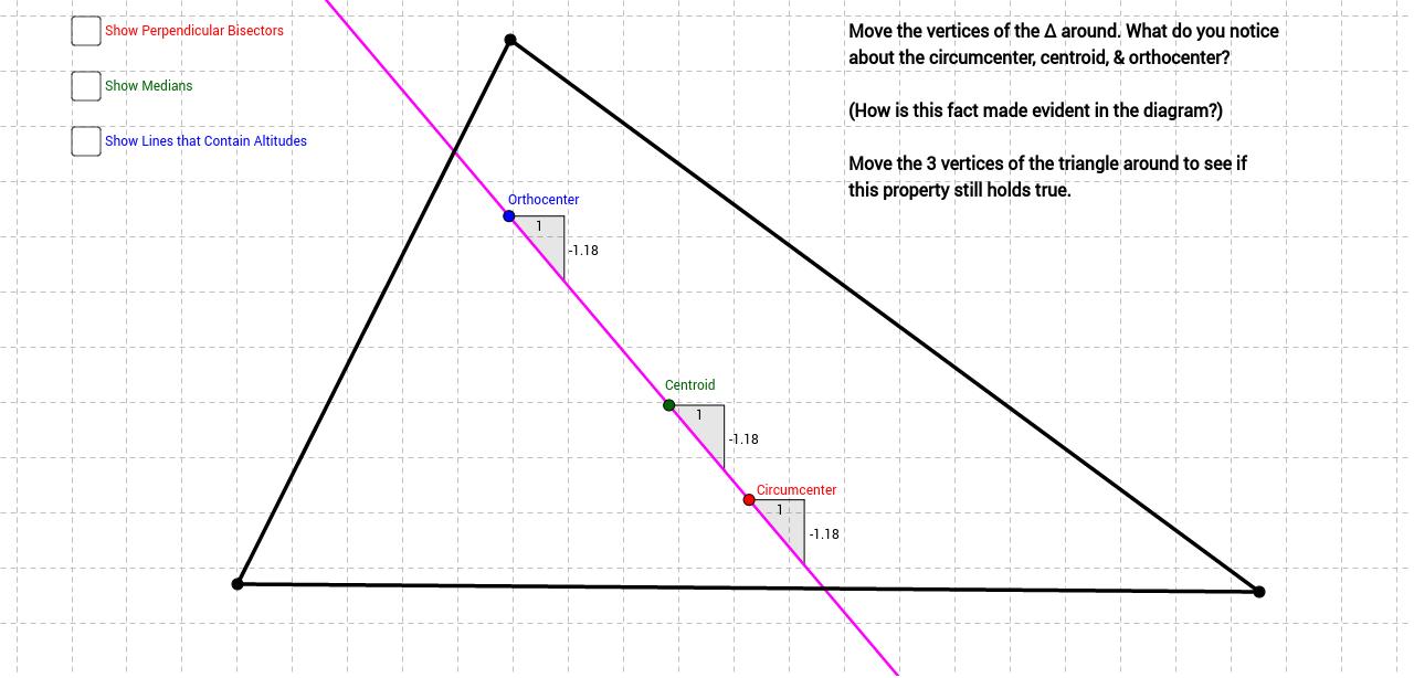 Euler Line (Informal Investigation) - GeoGebra