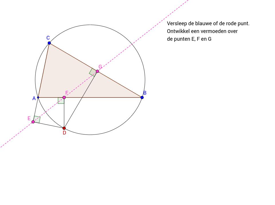Vermoeden over drie punten en omgeschreven cirkel