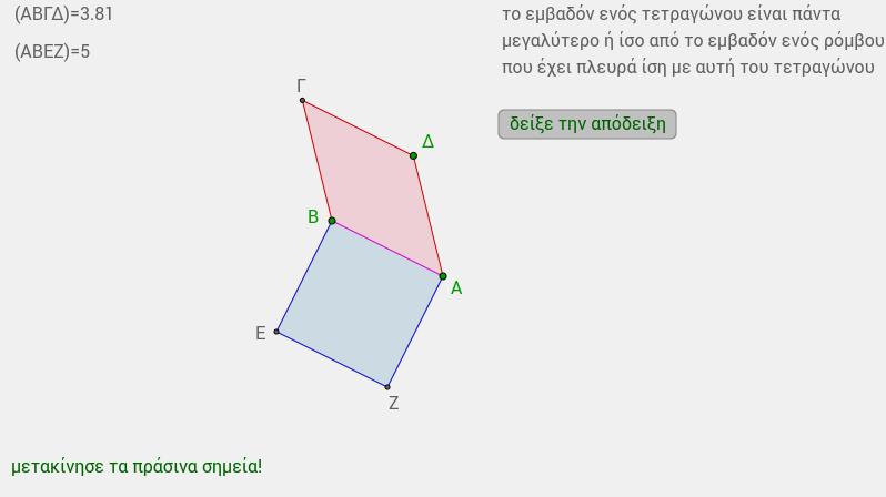 ρόμβος και τετράγωνο