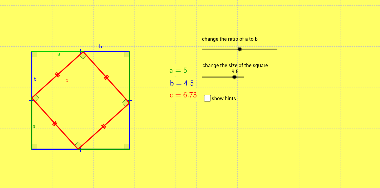 Pythagoras Proof for Students