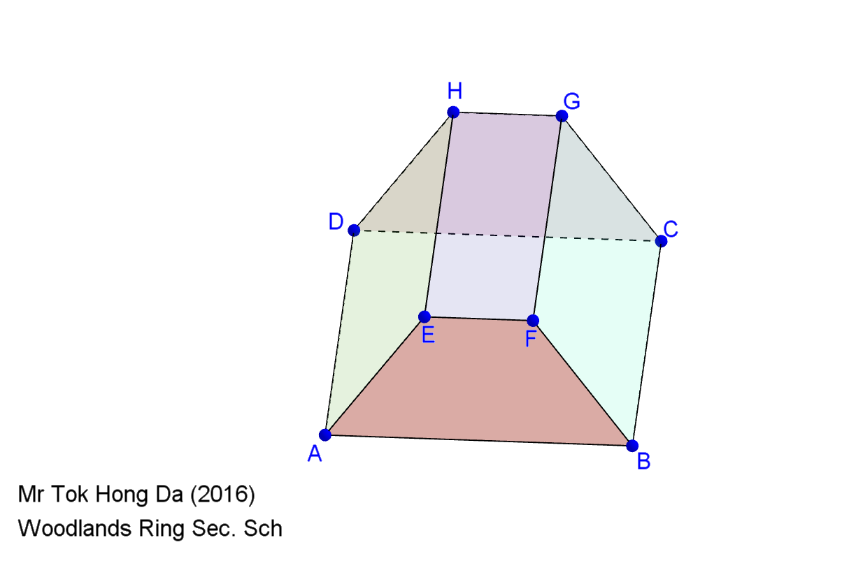 Net and Surface Area of Trapezoidal Prism - GeoGebra