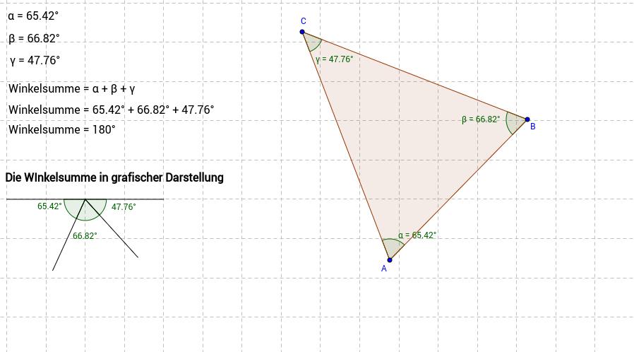 Die Winkelsumme im Dreieck