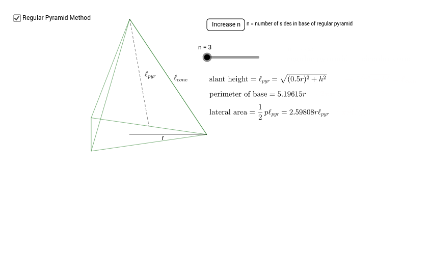 11.3 Derive Lateral Area of a Cone
