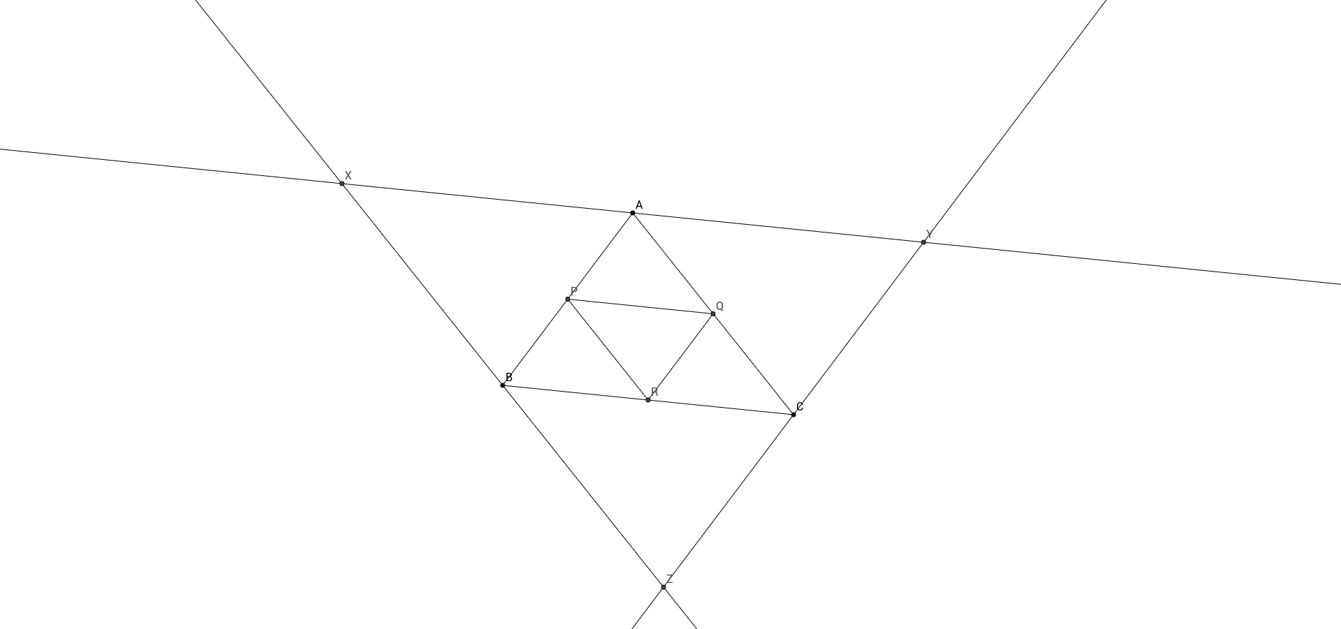 Trois triangles