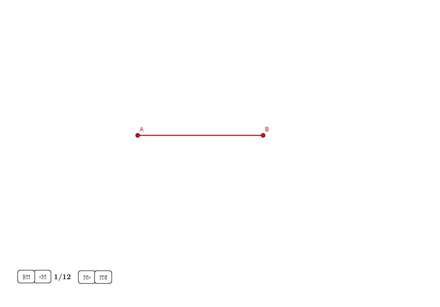 Dividir un segmento con ratio 1:sqrt(3)