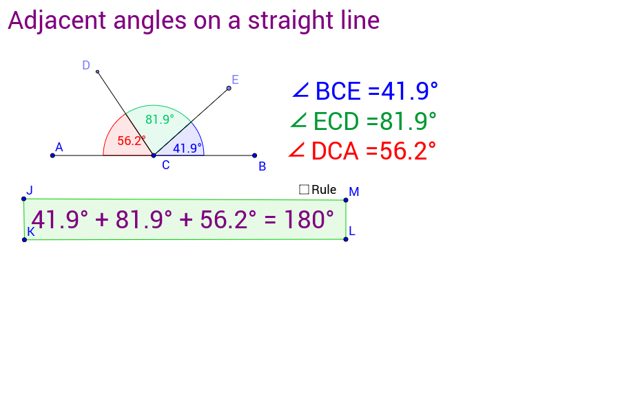Student Copy - Rule 1: Adjacent angles on a straight line