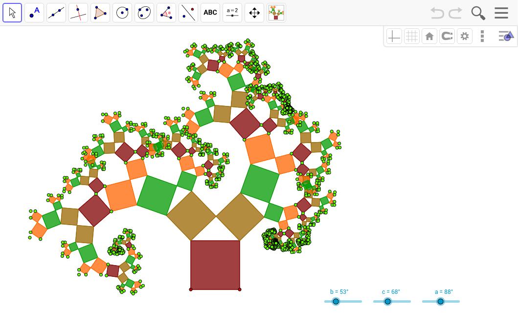 albero di pitagora 2 geogebra
