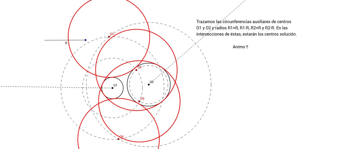 Copia de Circunferencias tangentes comunes a dos circunferencias, con