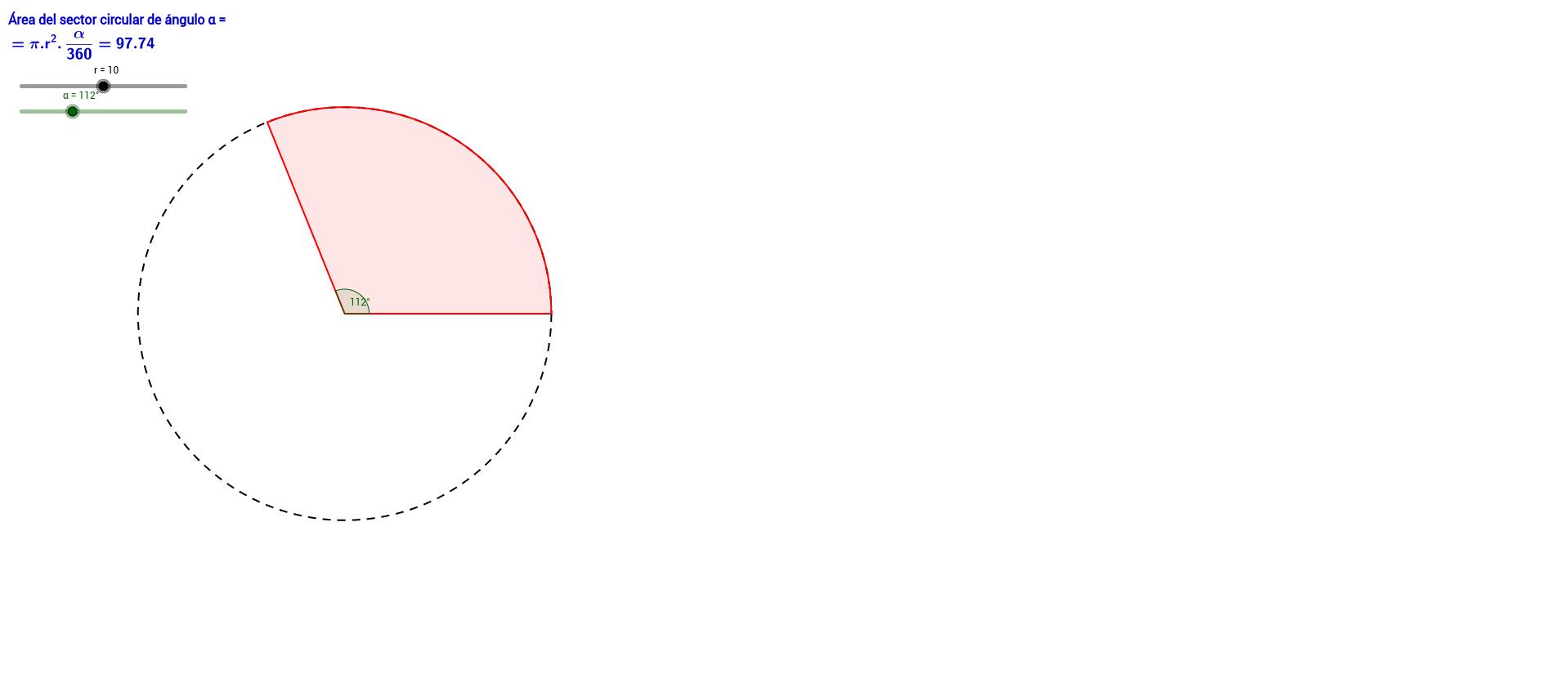 ÁREA DEL SECTOR CIRCULAR