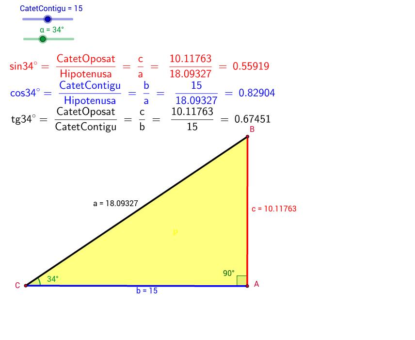 Raons trigonomètriques d'un angle agut