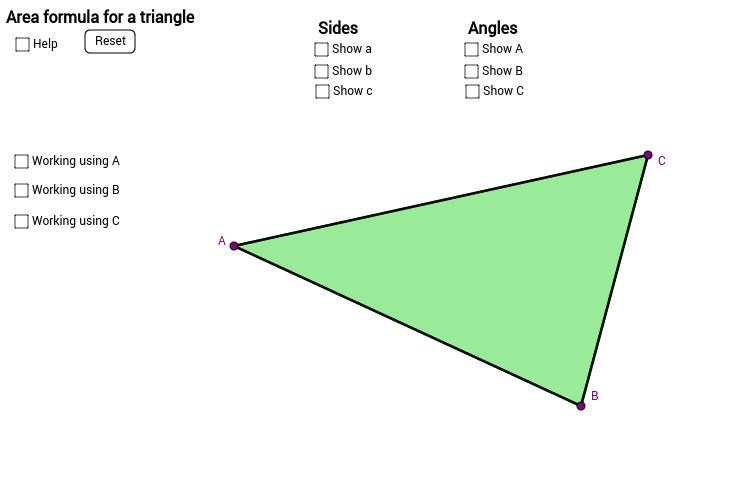 Area Formula For a Triangle
