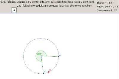 Geometriai tippelős játék 9. osztályosoknak