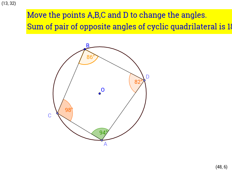 Opposite angles of cyclic quadrilateral