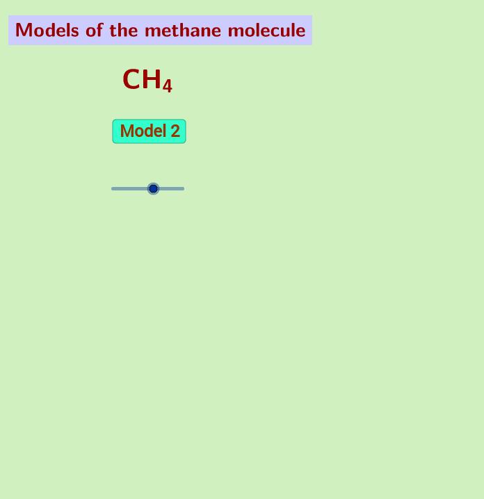 Models of the methane molecule