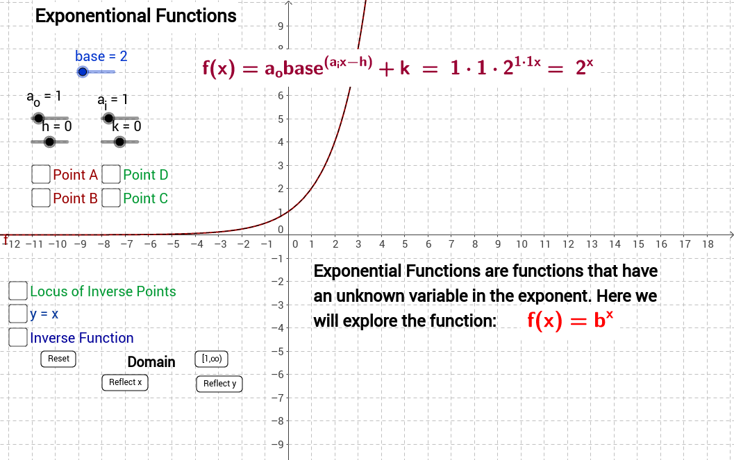 Exponential Functions and Inverse