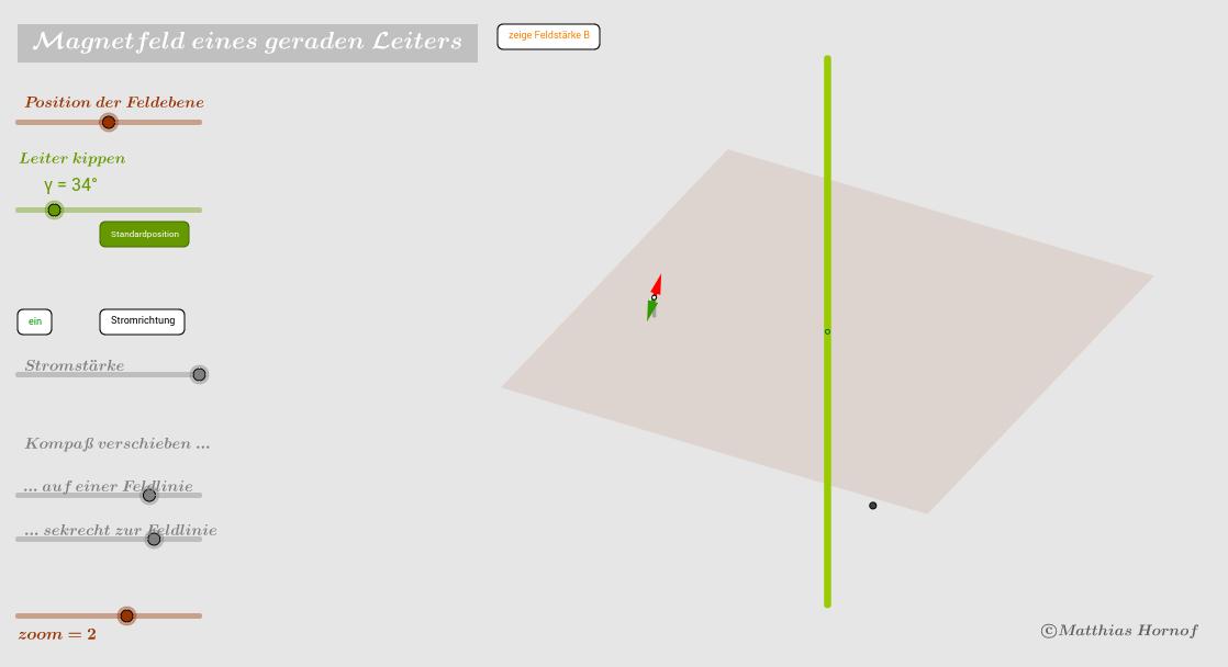 Magnetfeld eines geraden, stromdurchflossenen Leiters 2