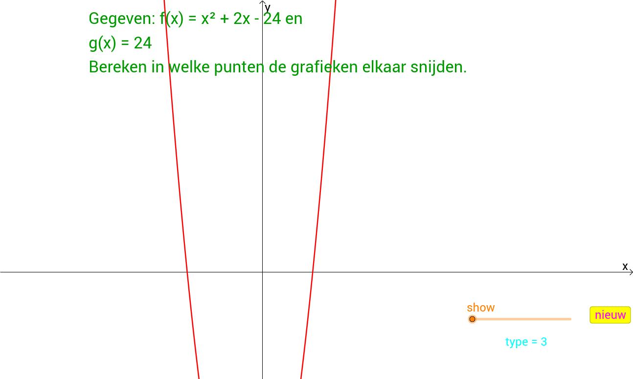 Kopie van Snijpunten berekenen