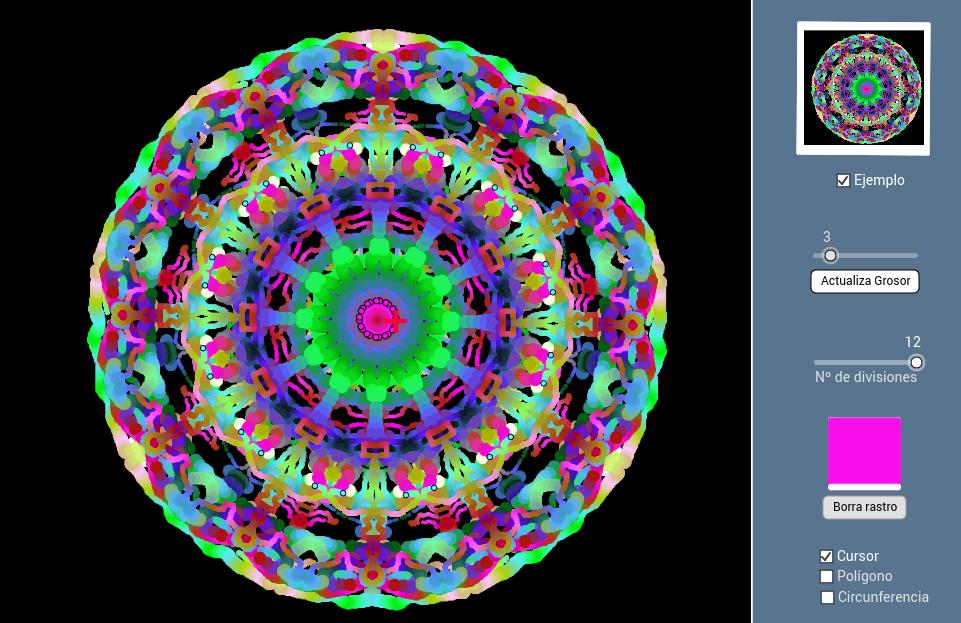 SIMETRÍA RADIAL (colores dinámicos)