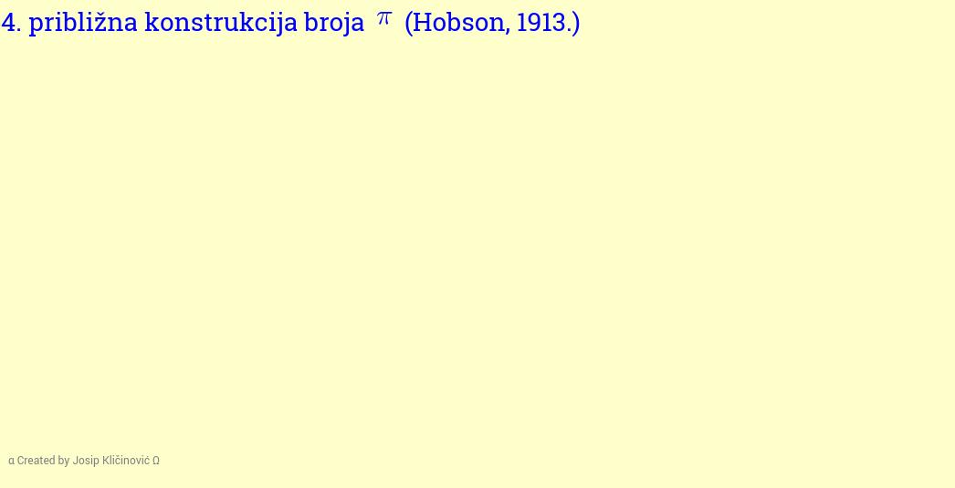 Približna konstrukcija broja pi (Hobson, 1913.)