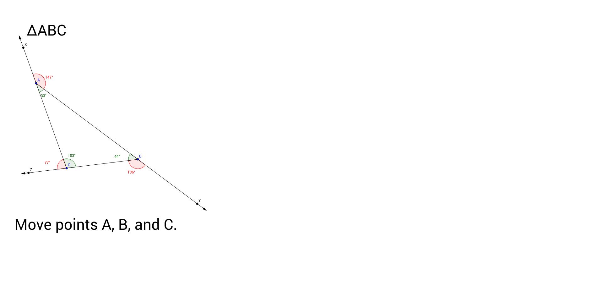 Exterior Angles Of A Triangle Geogebra