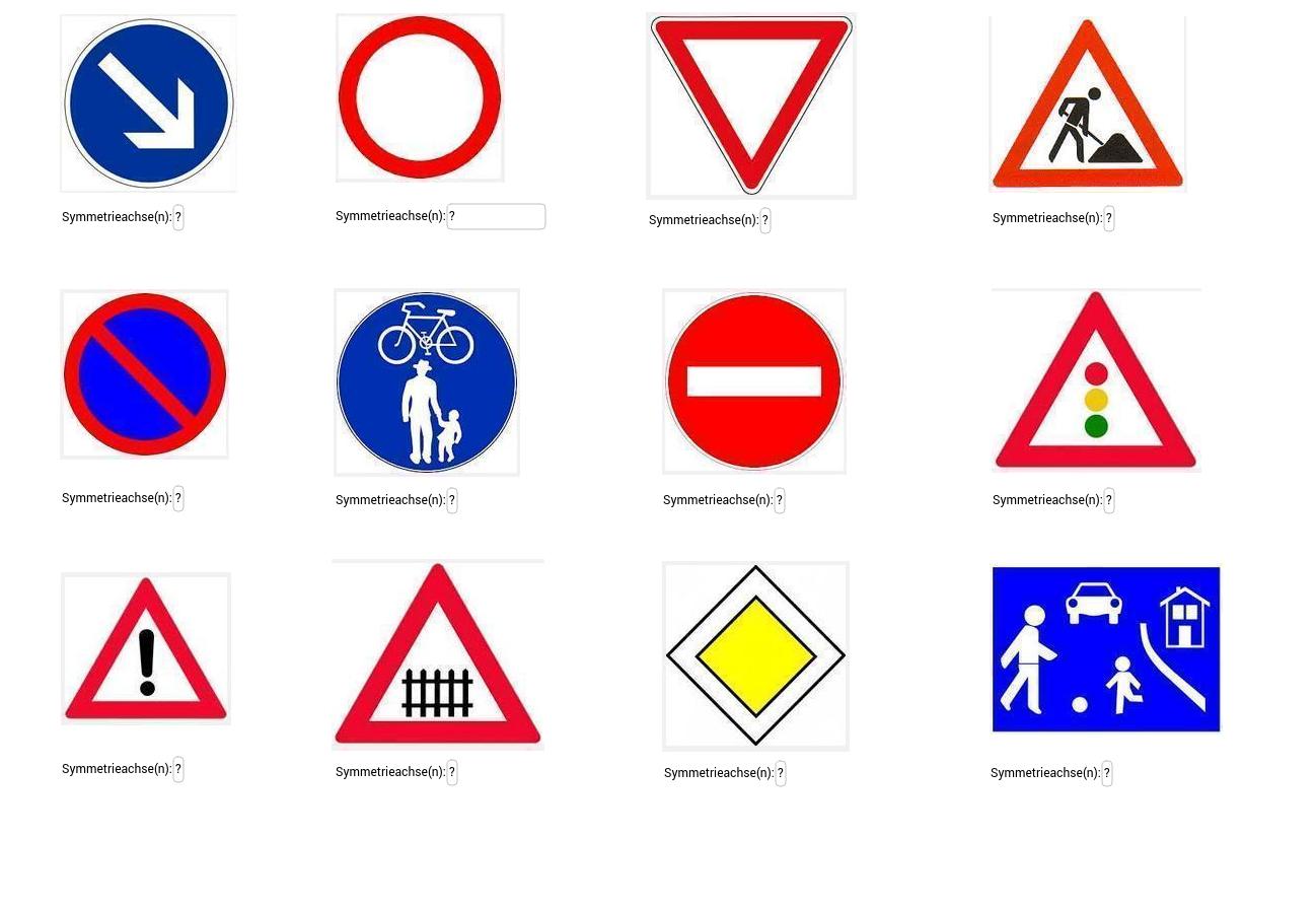 Symmetrie - Verkehrszeichen