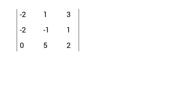 Determinantes 3x3
