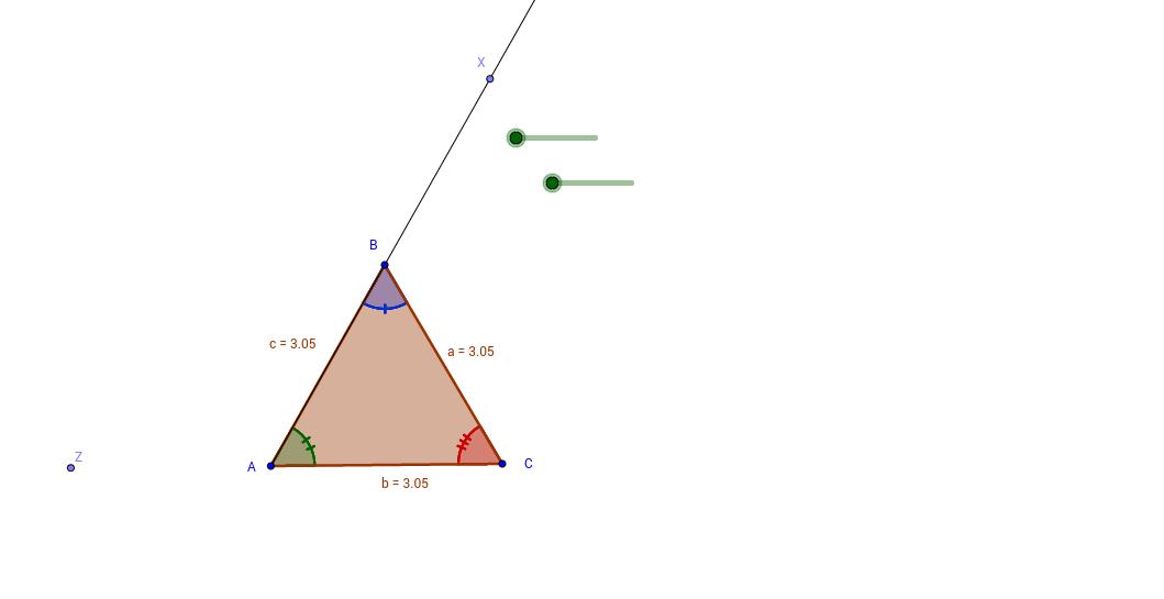 Exterior angle of a triangle