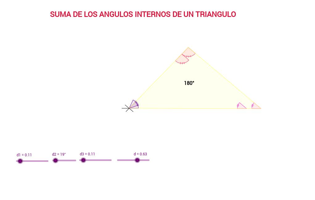 SUMA DE LOS ANGULOS INTERNOS DE UN TRIANGULO