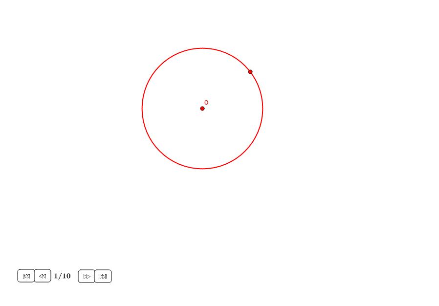 Triángulo equilátero en un círculo (II)