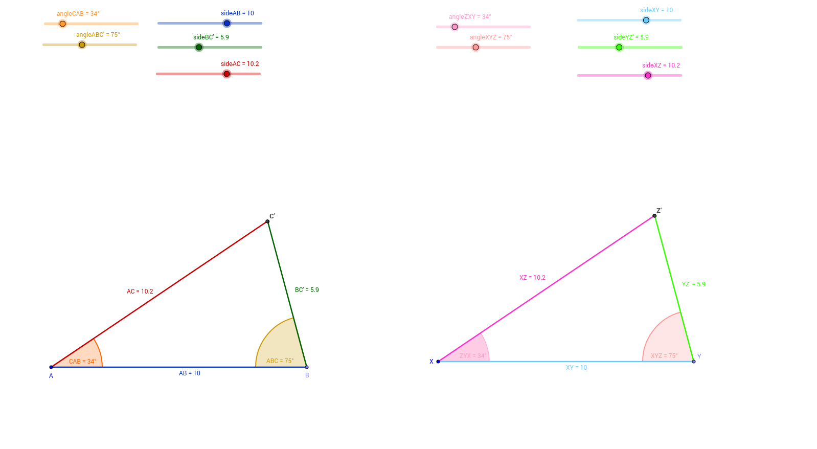 Congruent Triangles Exploration