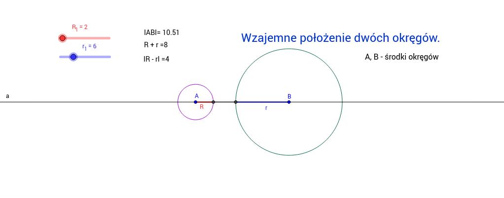 Wzajemne położenie okręgów