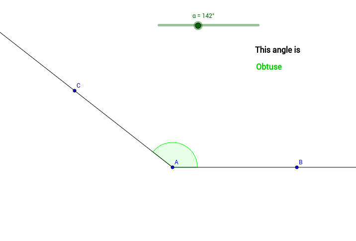 Angles are described by their size