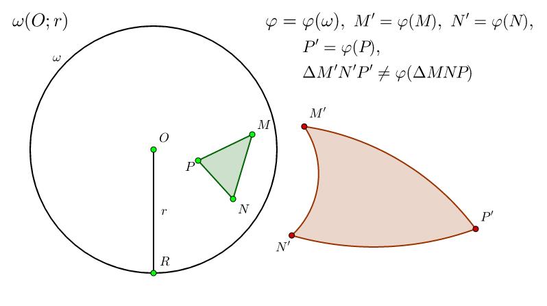 Инверсия на триъгълник