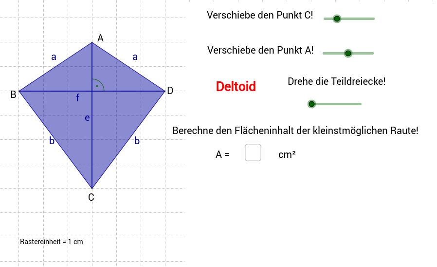 Deltoid - Raute - Quadrat