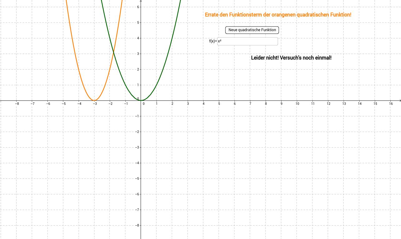 Quadratische Funktionen erraten