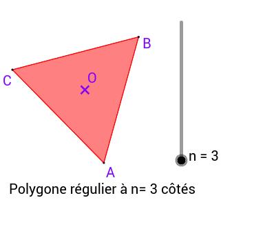 Définition d'un polygone régulier