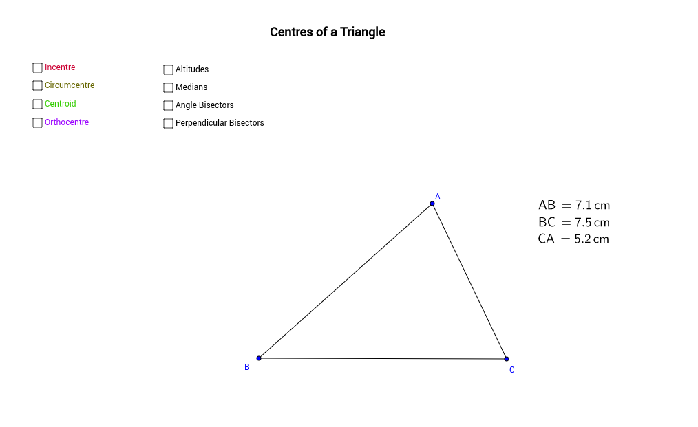 Centres of a Triangle
