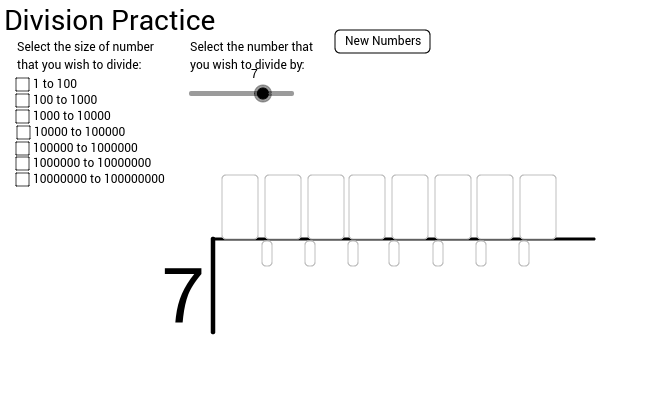 Practice with division (whole numbers)