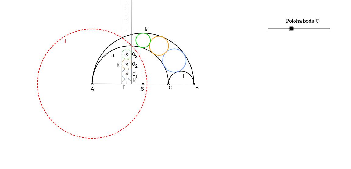 Příklad 4: Kružnice v pásu mezi kružnicemi