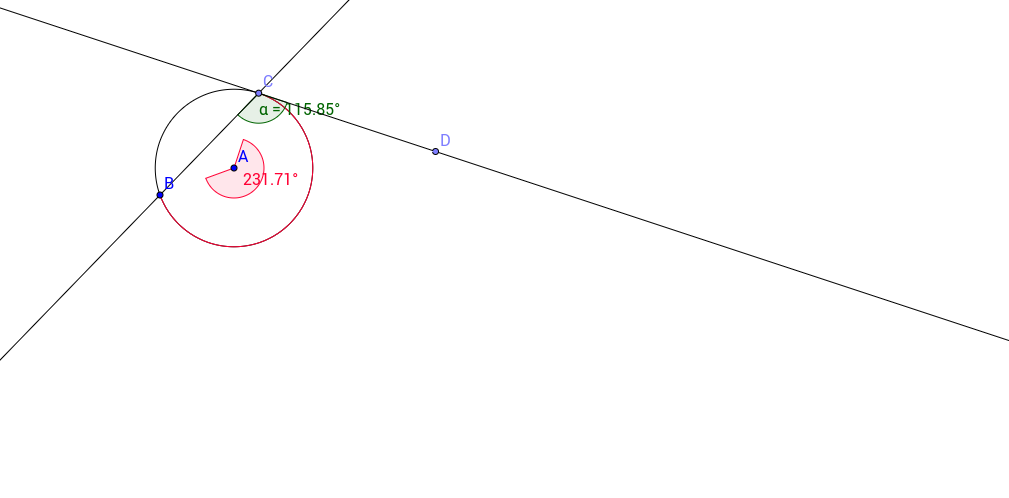 Angle Relationships In Circles Geogebra