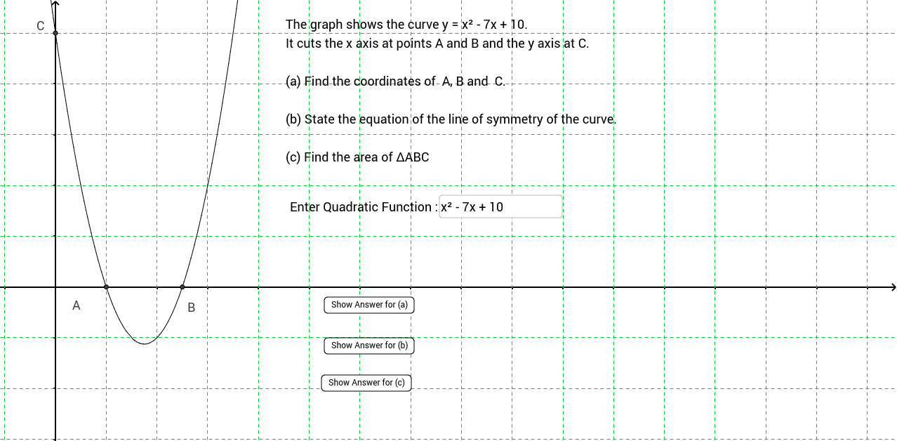 Self Assessment : Quadratic Curve's Properties