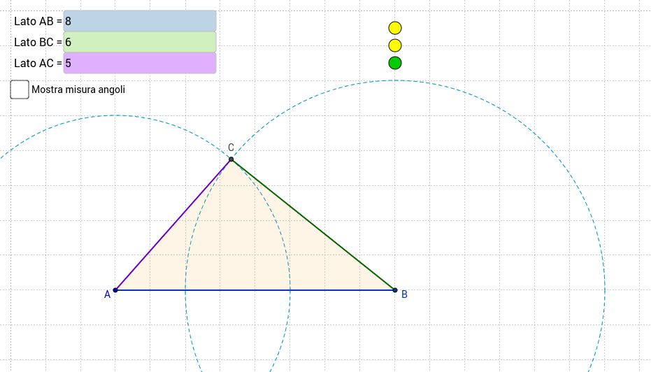 Triangoli: modificare le lunghezze dei lati