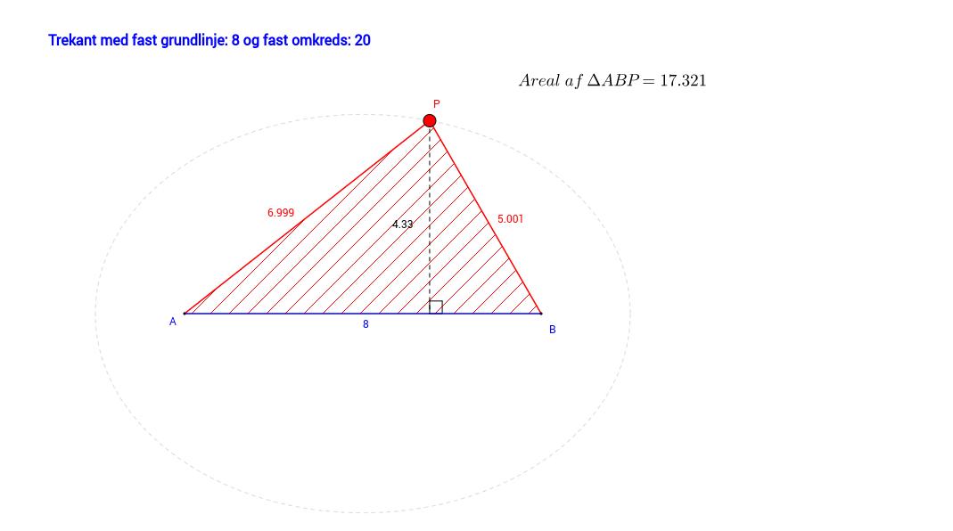 Optimal trekant med fast grundlinje